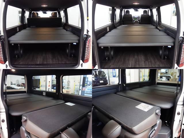 オリジナルベットKIT高さ調整機能付き!! | トヨタ ハイエースバン 2.0 スーパーGL 50TH アニバーサリー リミテッド ロングボディ 床張りファミリーパッケージ