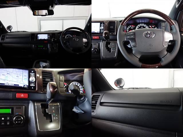 専用コンビハンドル、ノブ、インテリアパネル装備!! | トヨタ ハイエースバン 2.0 スーパーGL 50TH アニバーサリー リミテッド ロングボディ 床張りファミリーパッケージ