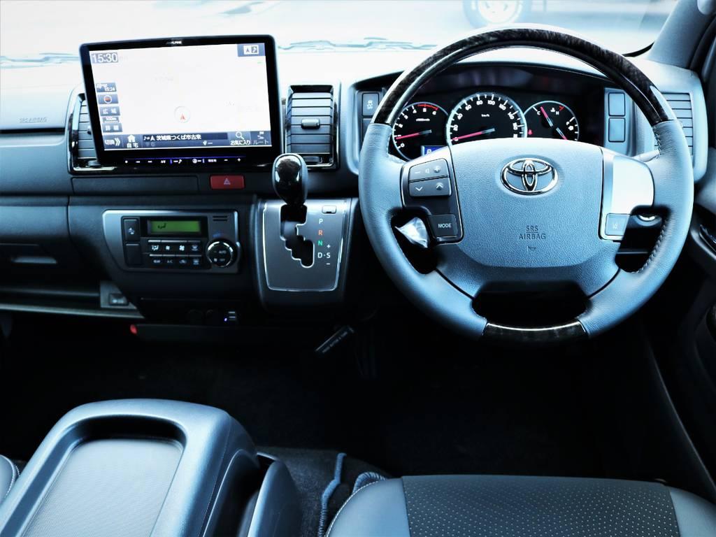 高級感溢れる室内!専用装備が満載です! | トヨタ ハイエースバン 2.8 スーパーGL ダークプライムⅡ ロングボディ ディーゼルターボ アレンジFU