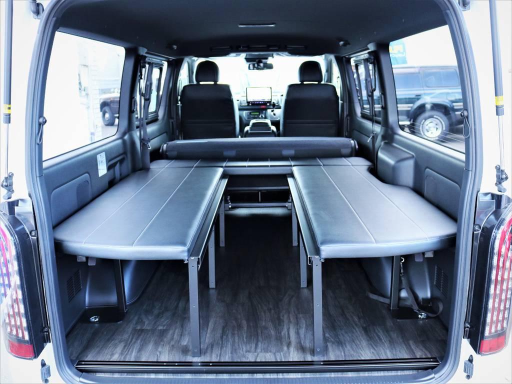 ベッドマットは取り外し可能です! | トヨタ ハイエースバン 2.8 スーパーGL ダークプライムⅡ ロングボディ ディーゼルターボ アレンジFU