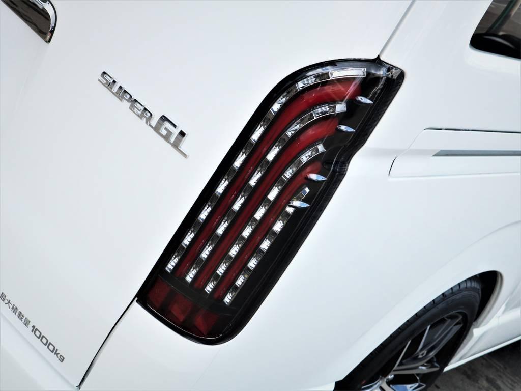 FLEX煌LEDテールランプ! | トヨタ ハイエースバン 2.8 スーパーGL ダークプライムⅡ ロングボディ ディーゼルターボ アレンジFU