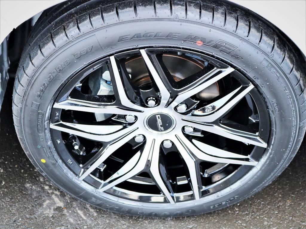 デルフ01BP18インチアルミホイール、国産グットイヤータイヤ! | トヨタ ハイエースバン 2.8 スーパーGL ダークプライムⅡ ロングボディ ディーゼルターボ アレンジFU