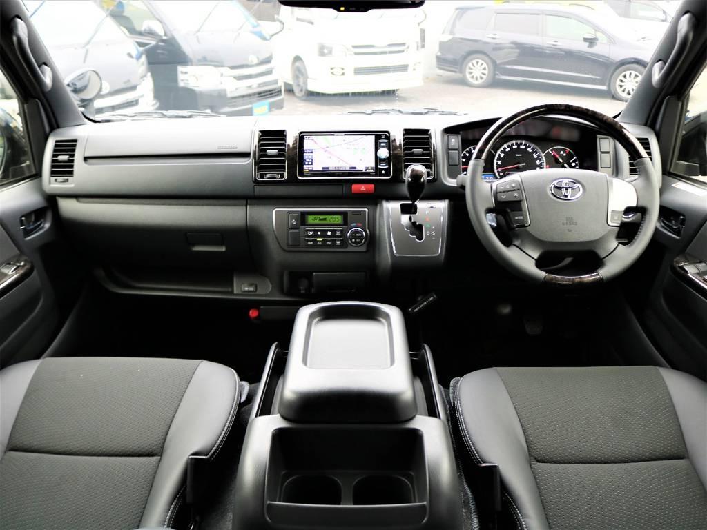 特別仕様車の上質な室内空間♪ | トヨタ ハイエースバン 2.8 スーパーGL ダークプライムⅡ ロングボディ ディーゼルターボ Delfinoカスタム フルセグナビ