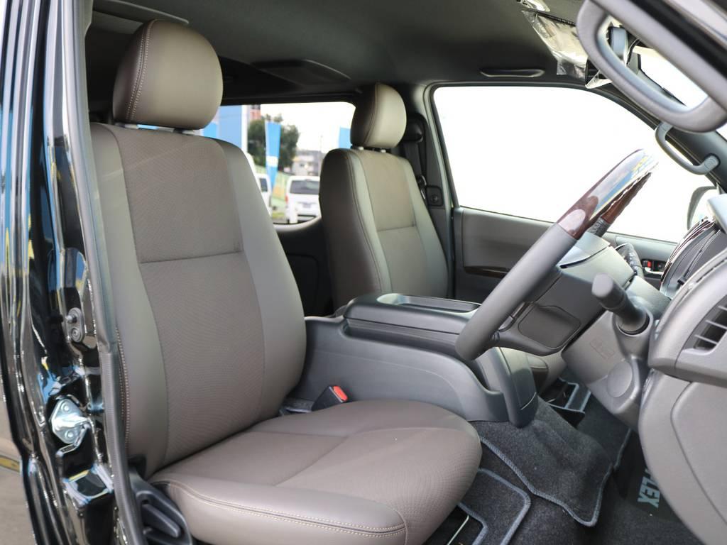 もちろんシートも50TH専用仕様です♪ | トヨタ ハイエースバン 2.8 スーパーGL 50TH アニバーサリー リミテッド ロングボディ ディーゼルターボ FLEXカスタム フルセグナビPKG