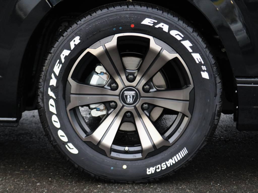 バルベロ17インチアルミホイール装着! | トヨタ ハイエースバン 2.8 スーパーGL 50TH アニバーサリー リミテッド ロングボディ ディーゼルターボ FLEXカスタム フルセグナビPKG