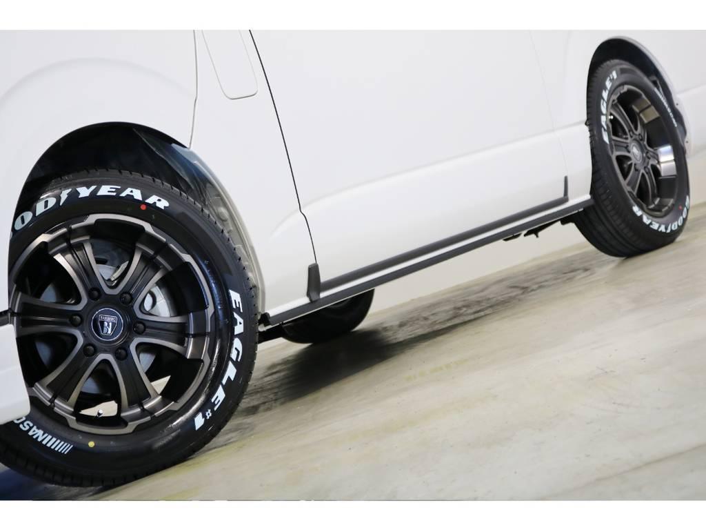 FLEX専用カラーのバルベロWD(ワイルドディープス)17インチアルミホイール&グッドイヤー ナスカータイヤ!