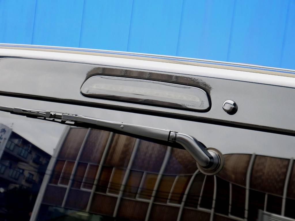 ヴァレンティ ブラックLEDハイマウントに変更済!! | トヨタ ハイエースバン 2.0 スーパーGL 50TH アニバーサリー リミテッド ロングボディ スポーツカスタム