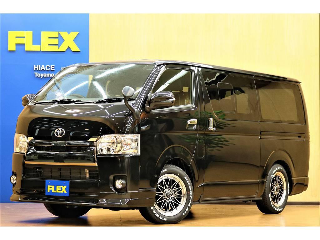 新車 ハイエースバン ダークプライムⅡ FLEXオリジナル内装Ver.4施工済 カスタムコンプリート