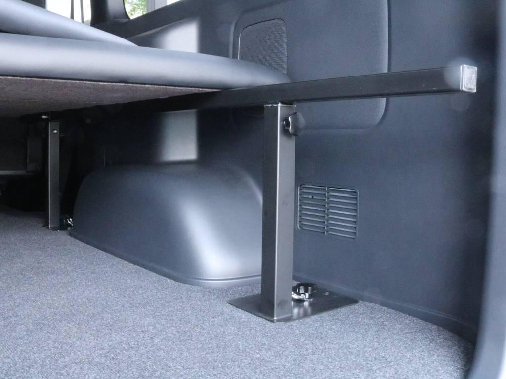 ベッドキットのフレームは高さ調節可能です!!荷物を多く積みたい時などとても便利です!!