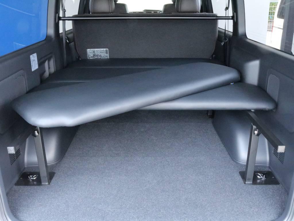ベッドキットは取り外しも可能です!大きい荷物を載せたいときもこれなら安心ですね!
