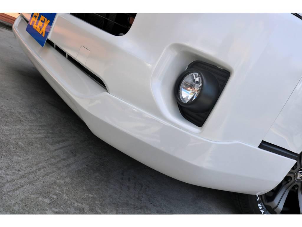 ESSEXフロントスポイラーを装着!!   トヨタ ハイエースバン 2.8 DX ワイド スーパーロング ハイルーフ GLパッケージ ディーゼルターボ 4WD トランポPKG