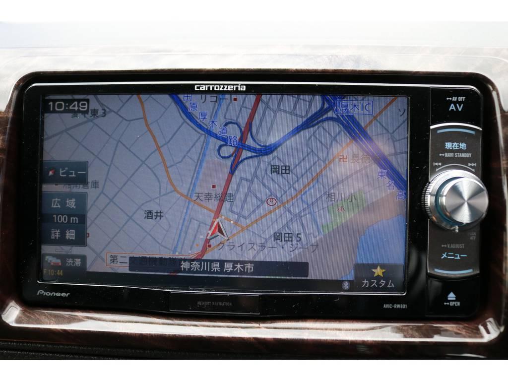 地図も見やすいですね! | トヨタ ハイエースバン 2.0 スーパーGL 50TH アニバーサリー リミテッド ロングボディ TRDバンパー・オフロード仕様