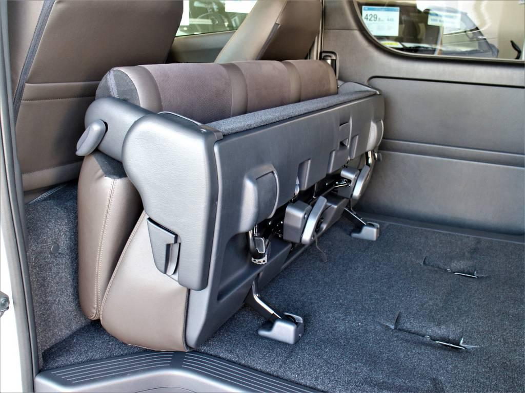 セカンドシート折りたたみ可能です! | トヨタ ハイエースバン 2.7 スーパーGL 50THアニバーサリー リミテッド ワイド ミドルルーフ ロングボディ4WD