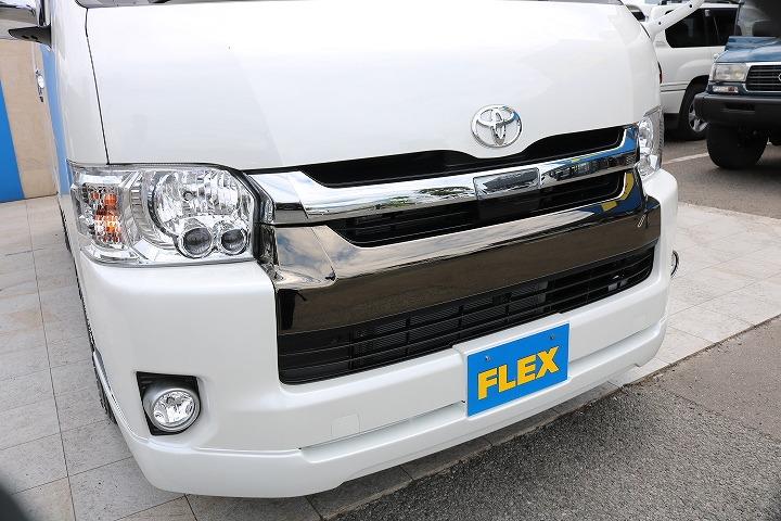 FLEXオリジナルフロントスポイラー! | トヨタ ハイエースバン 2.7 スーパーGL 50THアニバーサリー リミテッド ワイド ミドルルーフ ロングボディ4WD 50TH