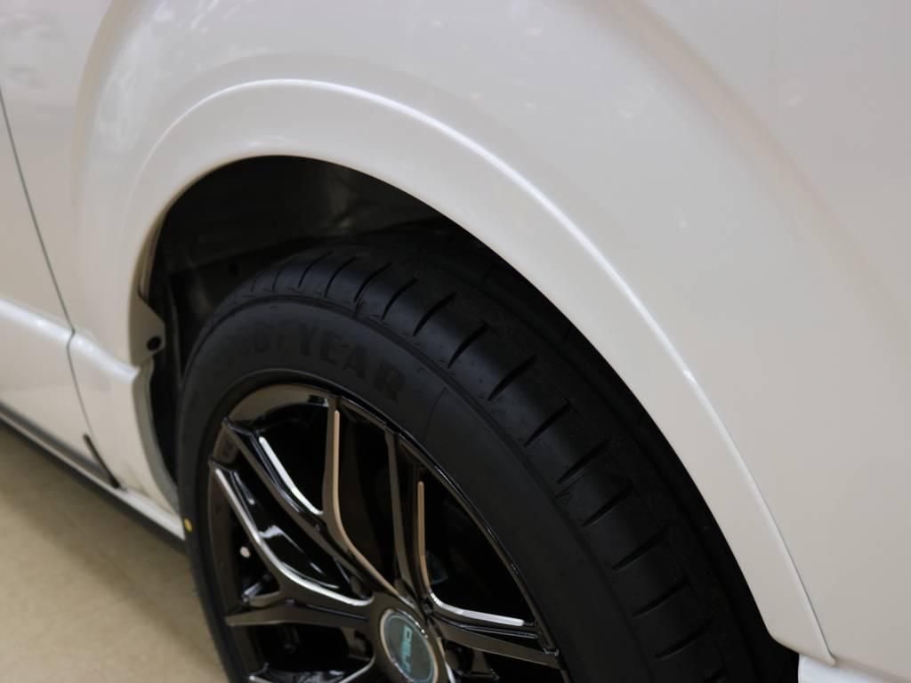 車検対応オーバーフェンダー装着でご安心してお乗りいただける1台になりました♪ | トヨタ ハイエースバン 2.8 スーパーGL ダークプライムⅡ ロングボディ ディーゼルターボ 4WD Ver.4 DPⅡ