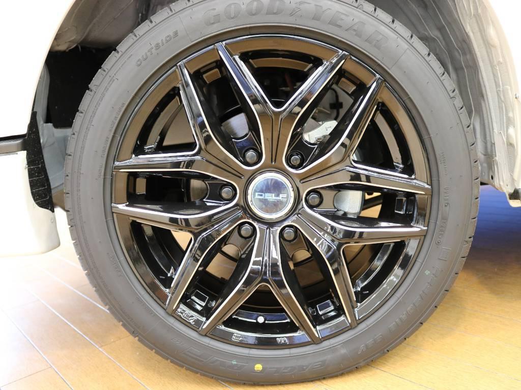 Delf18インチブラックミーリングは引き締まった印象です! | トヨタ ハイエースバン 2.8 スーパーGL ダークプライムⅡ ロングボディ ディーゼルターボ 4WD Ver.4 DPⅡ