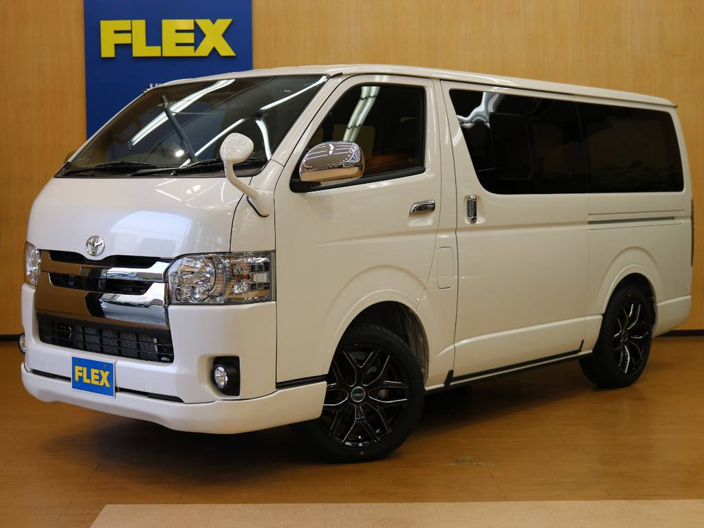 FLEXオリジナル内装架装Ver.4 | トヨタ ハイエースバン 2.8 スーパーGL ダークプライムⅡ ロングボディ ディーゼルターボ 4WD Ver.4 DPⅡ