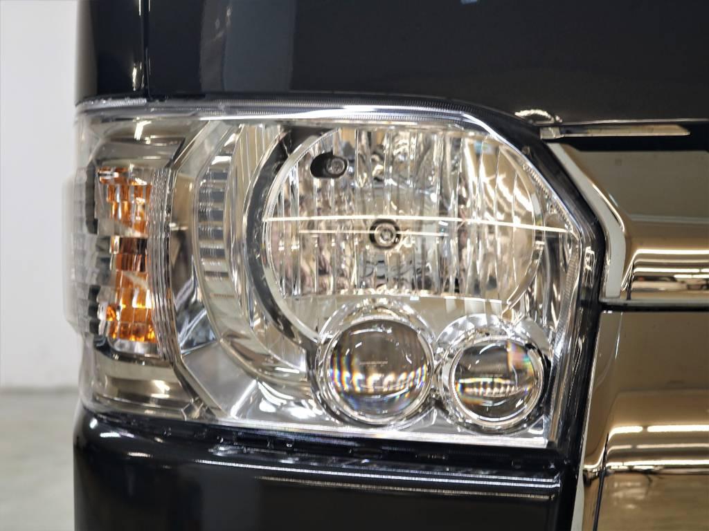 LEDヘッドランプが標準装備! | トヨタ ハイエースバン 2.8 スーパーGL ダークプライムⅡ ロングボディ ディーゼルターボ 4WD ライトカスタム  ナビ・ETC付