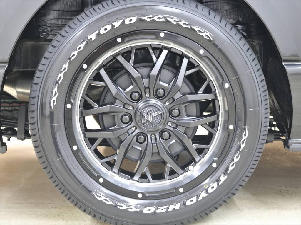 17inchガジェットAW&TOYO-H20! | トヨタ ハイエースバン 2.8 スーパーGL ダークプライムⅡ ロングボディ ディーゼルターボ 4WD ライトカスタム  ナビ・ETC付