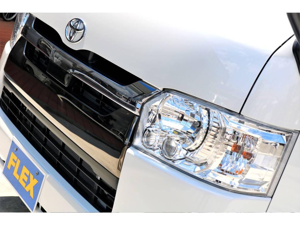 メーカーオプション LEDヘッドライト | トヨタ ハイエースバン 2.8 スーパーGL 50TH アニバーサリー リミテッド ロングボディ ディーゼルターボ 4WD ナビPKG