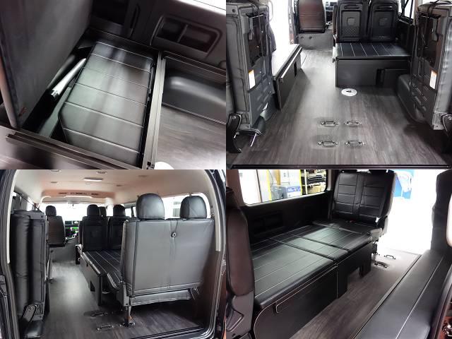 新車ワゴンGLアレンジR1シートアレンジツインナビパッケージ完成致しました!!即納車可能になります!! | トヨタ ハイエース 2.7 GL ロング ミドルルーフ R1シートアレンジ