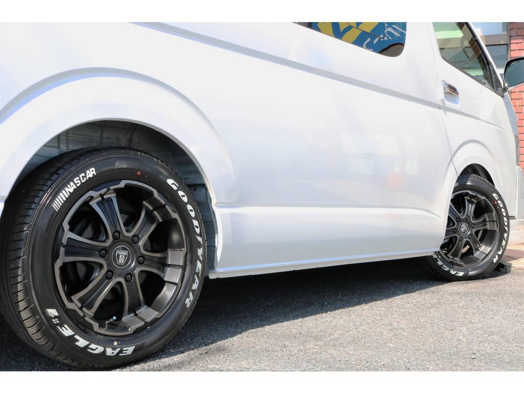 1.5インチローダウン済みです!立体駐車場も駐車可能です! | トヨタ ハイエース 2.7 GL ロング ミドルルーフ アレンジR1
