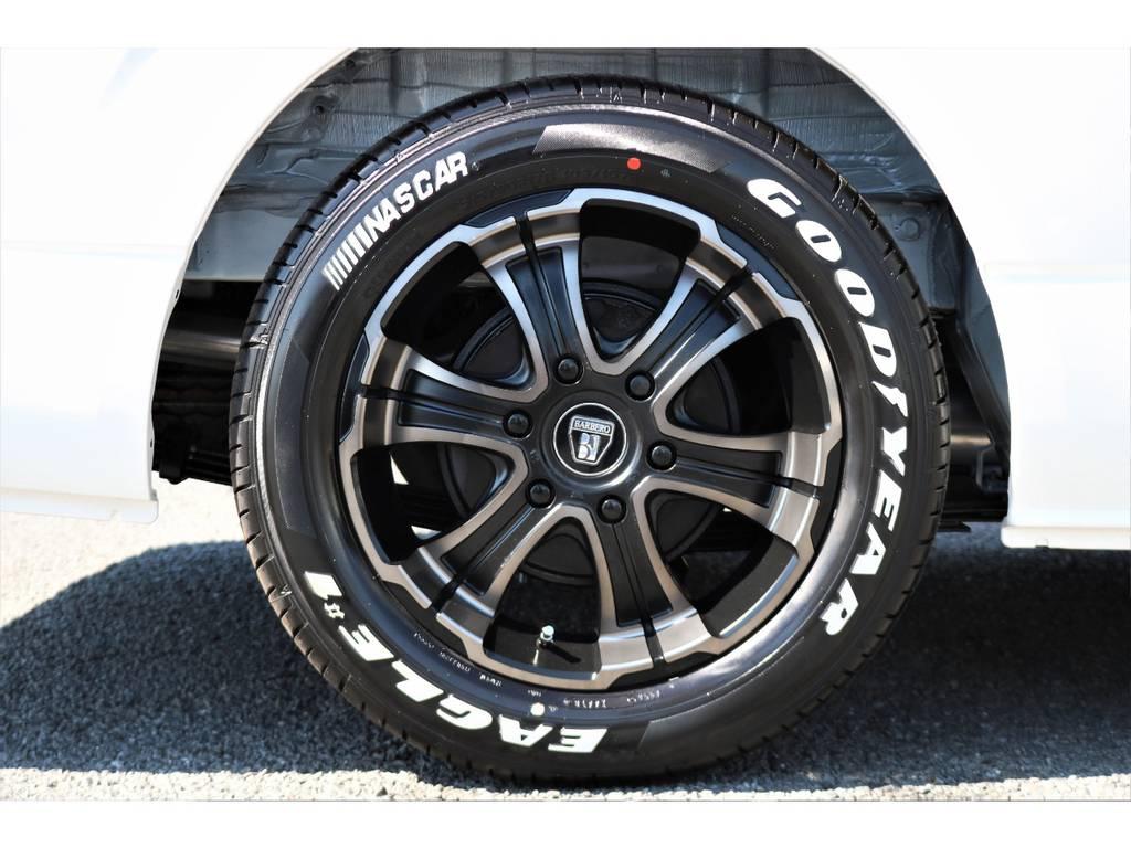 人気のバルベロディープス17インチ&ナスカータイヤを装着しました! | トヨタ ハイエース 2.7 GL ロング ミドルルーフ アレンジR1
