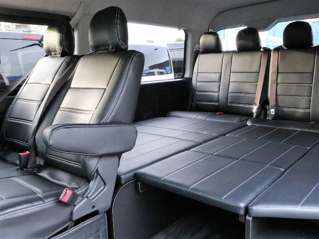 ベッドマットを敷き詰めればゆったりとくつろげます! | トヨタ ハイエース 2.7 GL ロング ミドルルーフ アレンジR1