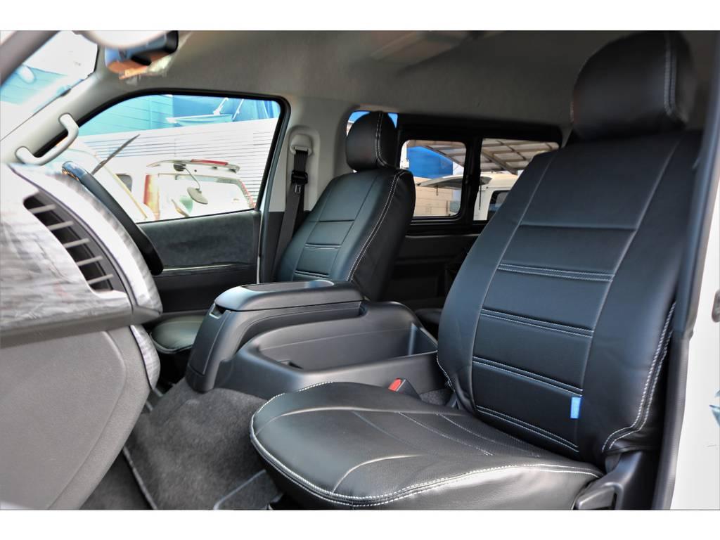 シートカバー全席装着しております! | トヨタ ハイエース 2.7 GL ロング ミドルルーフ アレンジR1