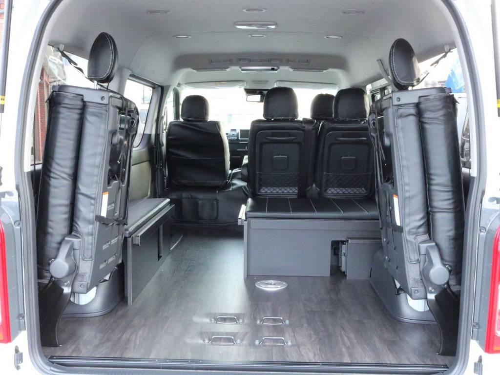 重歩行用フロア施工でお掃除も楽々です! | トヨタ ハイエース 2.7 GL ロング ミドルルーフ アレンジR1