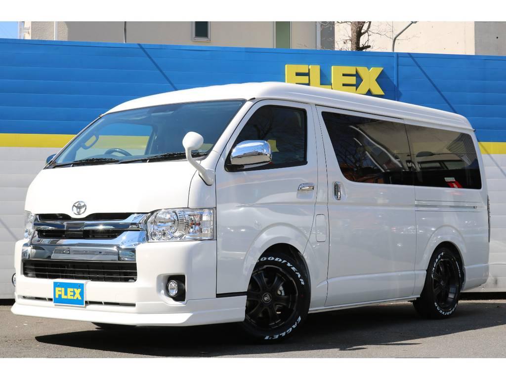 新車ハイエースワゴンGL・2WD・メーカーオプションカラーのホワイトパールクリスタルシャイン!