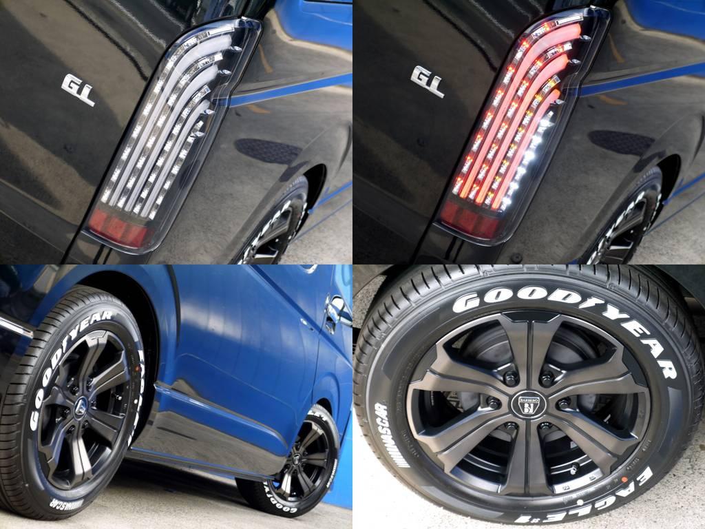 フレックスオリジナル 煌ブラックLEDテールやフレックスオリジナルカラー アーバングランデ17インチにナスカータイヤをインストール!!