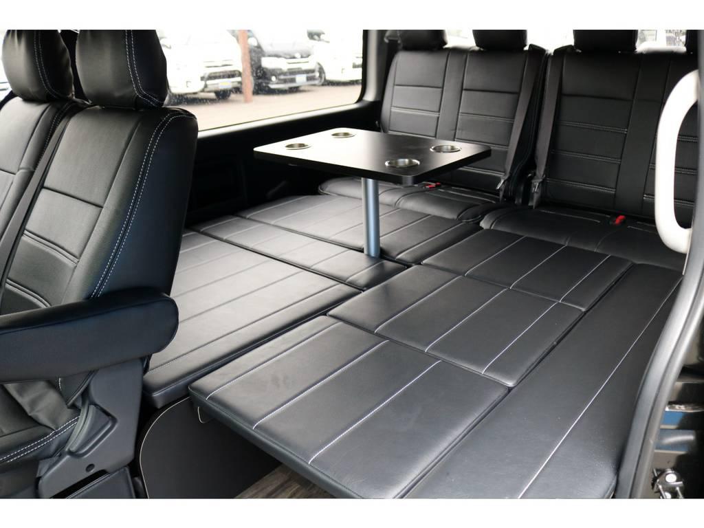 フルフラットベッド&センターテーブルも標準装備! | トヨタ ハイエース 2.7 GL ロング ミドルルーフ 4WD アレンジR1