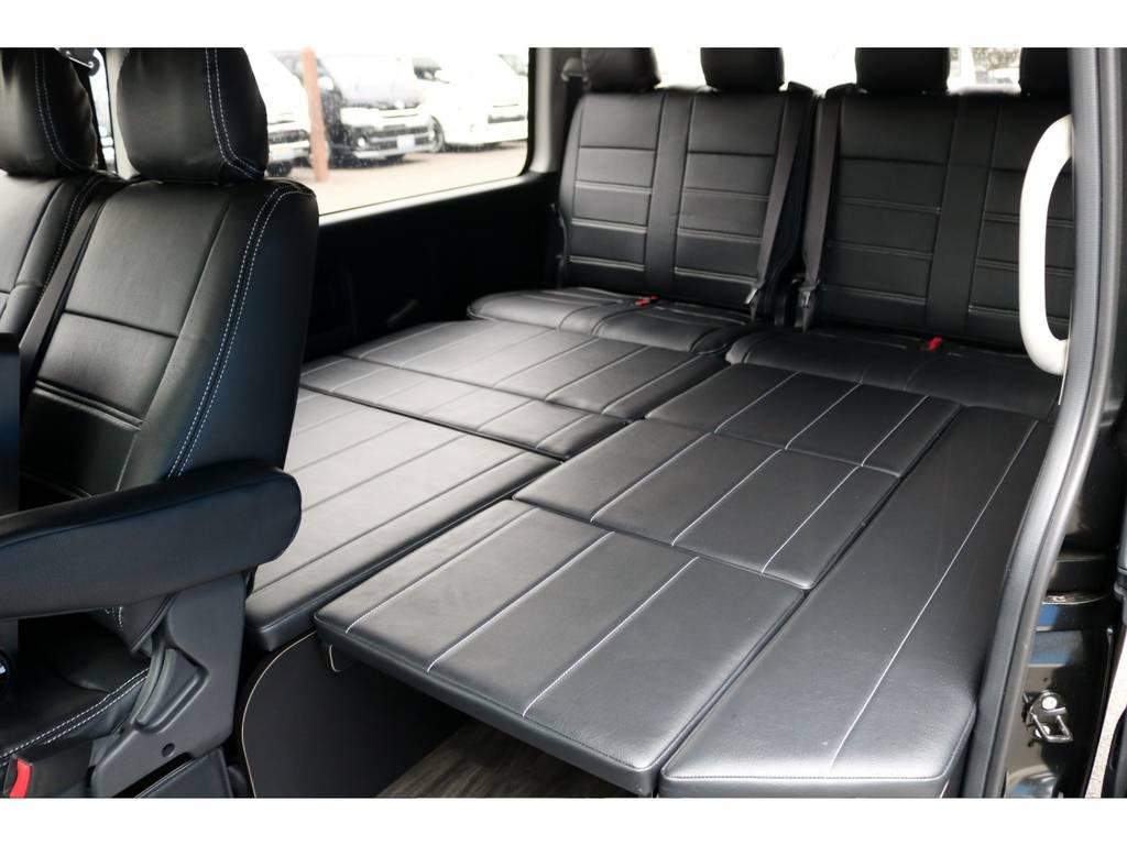サードポジションはフルフラットベッドアレンジも可能です! | トヨタ ハイエース 2.7 GL ロング ミドルルーフ 4WD アレンジR1