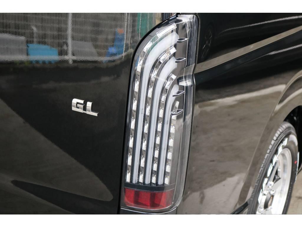 FLEXオリジナルテールランプ、煌ブラックです! | トヨタ ハイエース 2.7 GL ロング ミドルルーフ 4WD TSS付アレンジR1