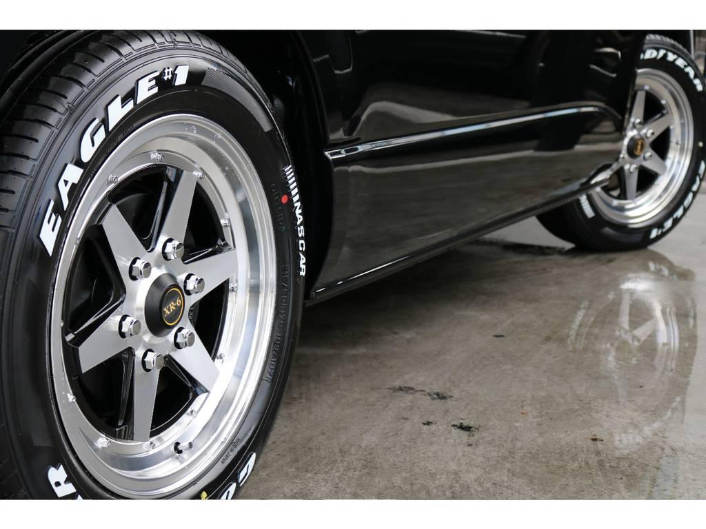 ファブレス XR-6 17インチアルミ&ナスカータイヤ | トヨタ ハイエース 2.7 GL ロング ミドルルーフ 4WD TSS付アレンジR1