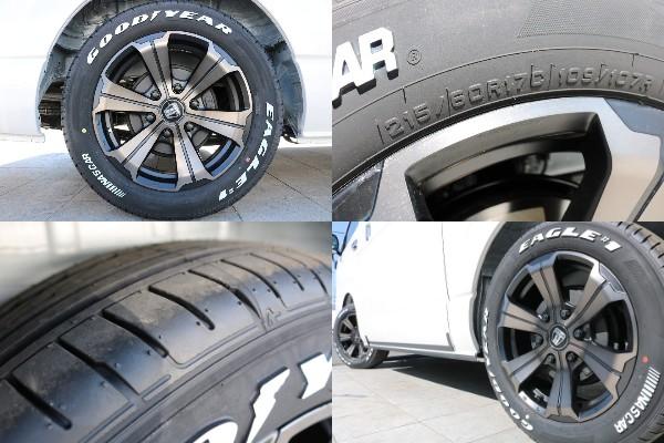 FLEXオリジナルアルミバルベロGR、GOODYEARナスカタイヤ装着   トヨタ ハイエース 2.7 GL ロング ミドルルーフ 4WD TSS付
