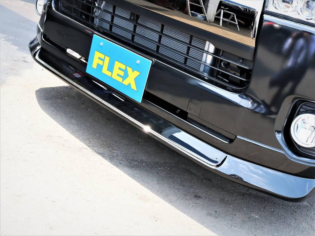 FLEXオリジナルデルフィーノラインフロントスポイラー! | トヨタ ハイエースバン 2.8 スーパーGL 50TH アニバーサリー リミテッド ロングボディ ディーゼルターボ 50TH