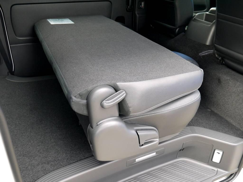 セカンドシートは格納できますよ☆ | トヨタ ハイエースバン 2.8 スーパーGL ダークプライムⅡ ロングボディ ディーゼルターボ ライトカスタムパッケージ