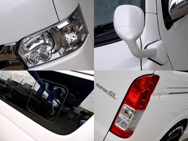 LEDヘッドライト完備!!アンダーミラー ボディー同色ペイント済ですよ☆ | トヨタ ハイエースバン 2.8 スーパーGL ダークプライムⅡ ロングボディ ディーゼルターボ ライトカスタムパッケージ
