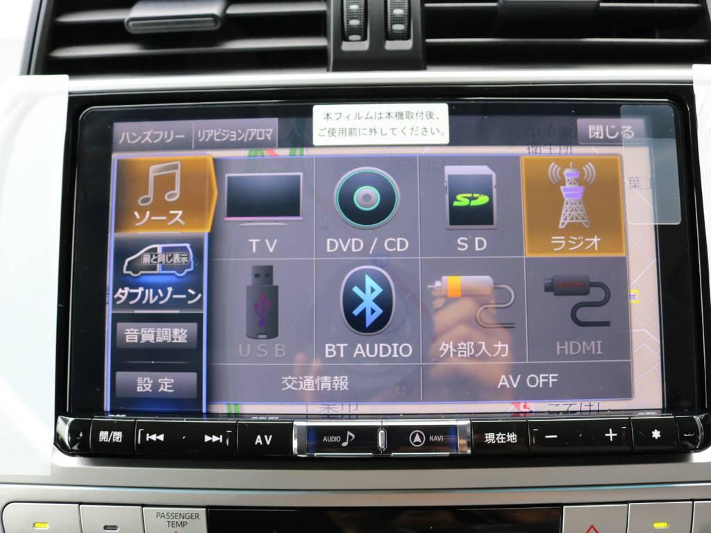 アルパイン製9インチナビも新品装着!大画面でTVやDVDを視聴できます!   トヨタ ランドクルーザープラド 2.8 TX ディーゼルターボ 4WD 7人 新車未登録車 9インチナビ