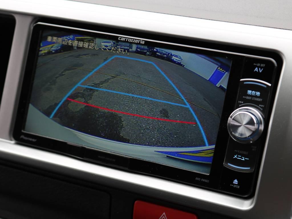 バックカメラも装備されておりますので大きなボディーでの駐車もご安心ください! | トヨタ ハイエース 2.7 GL ロング ミドルルーフ アレンジR1 ライトPKG