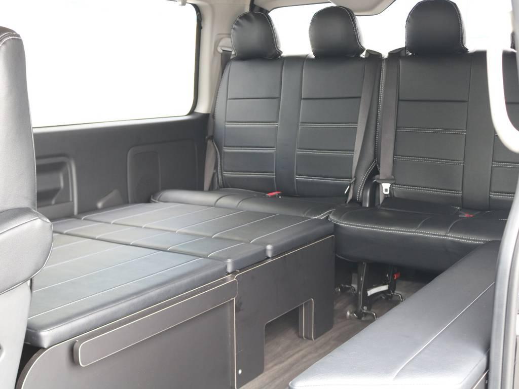 ベッドマットは取り外しが可能!収納も楽々♪ | トヨタ ハイエース 2.7 GL ロング ミドルルーフ TSS付 R1