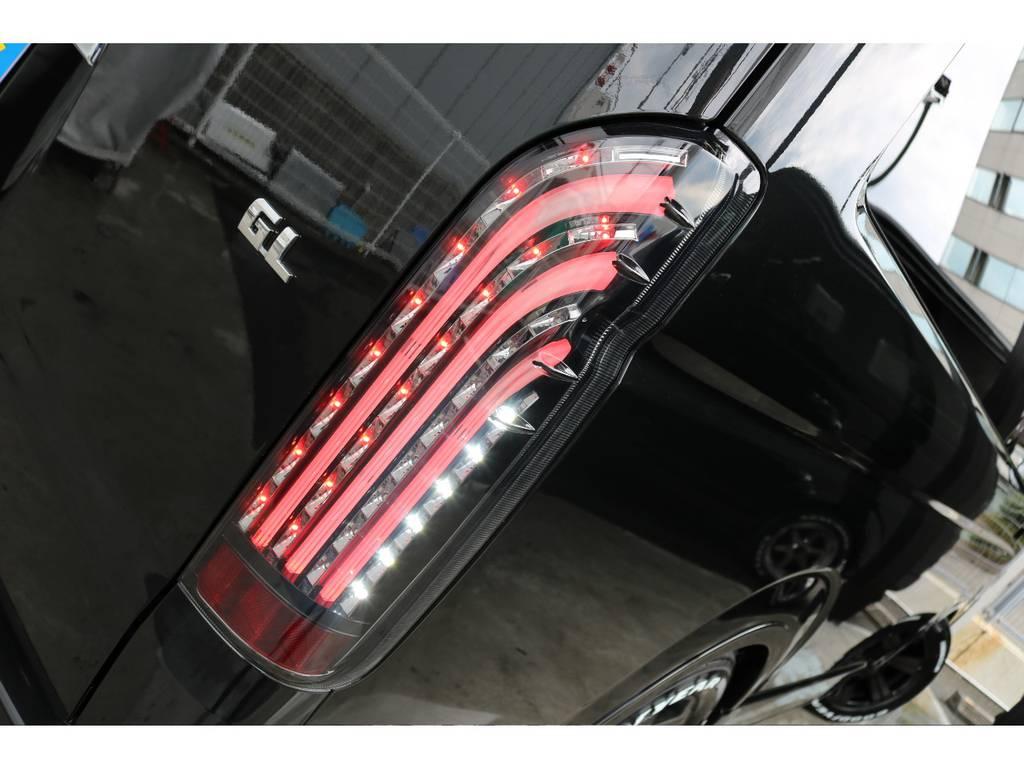 FLEXオリジナルLEDテールランプ「煌ブラック」です☆彡 | トヨタ ハイエース 2.7 GL ロング ミドルルーフ アレンジR1 ビッグX ETC2.0搭載