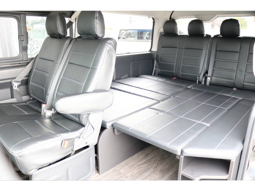 大人の方でも横になっていただける広さです♪ | トヨタ ハイエース 2.7 GL ロング ミドルルーフ アレンジR1 ビッグX ETC2.0搭載