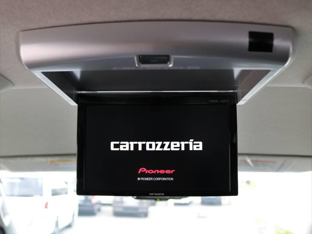 後席フリップダウンモニター♪ | トヨタ ハイエース 2.7 GL ロング ファインテックツアラー 4WD 4脚キャプテンシート 床張り