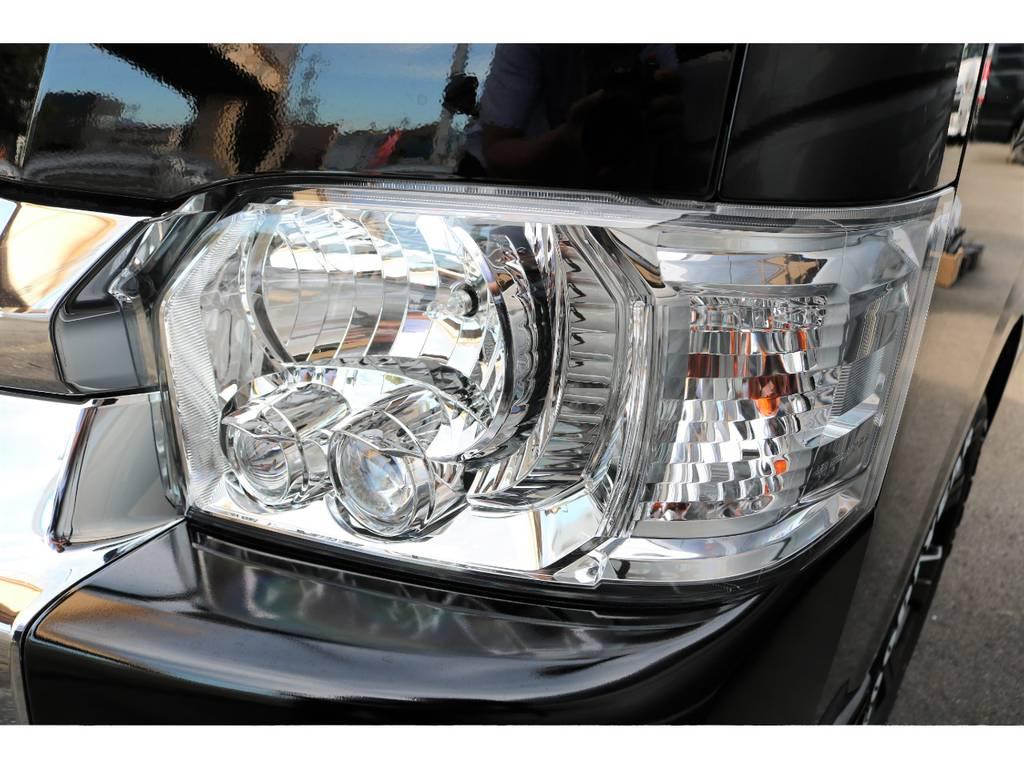 プロジェクターヘッドライトは視認性に優れ、夜間のドライブもご安全に走行いただけます♪