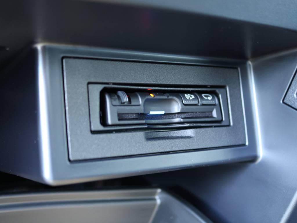 パナソニック製ETCはグローブボックス内にインストール済み♪ロングドライブには今や欠かせないアイテムです☆ | トヨタ ランドクルーザープラド 2.7 TX 4WD 5人 20AW&KO2 9ナビBカメ