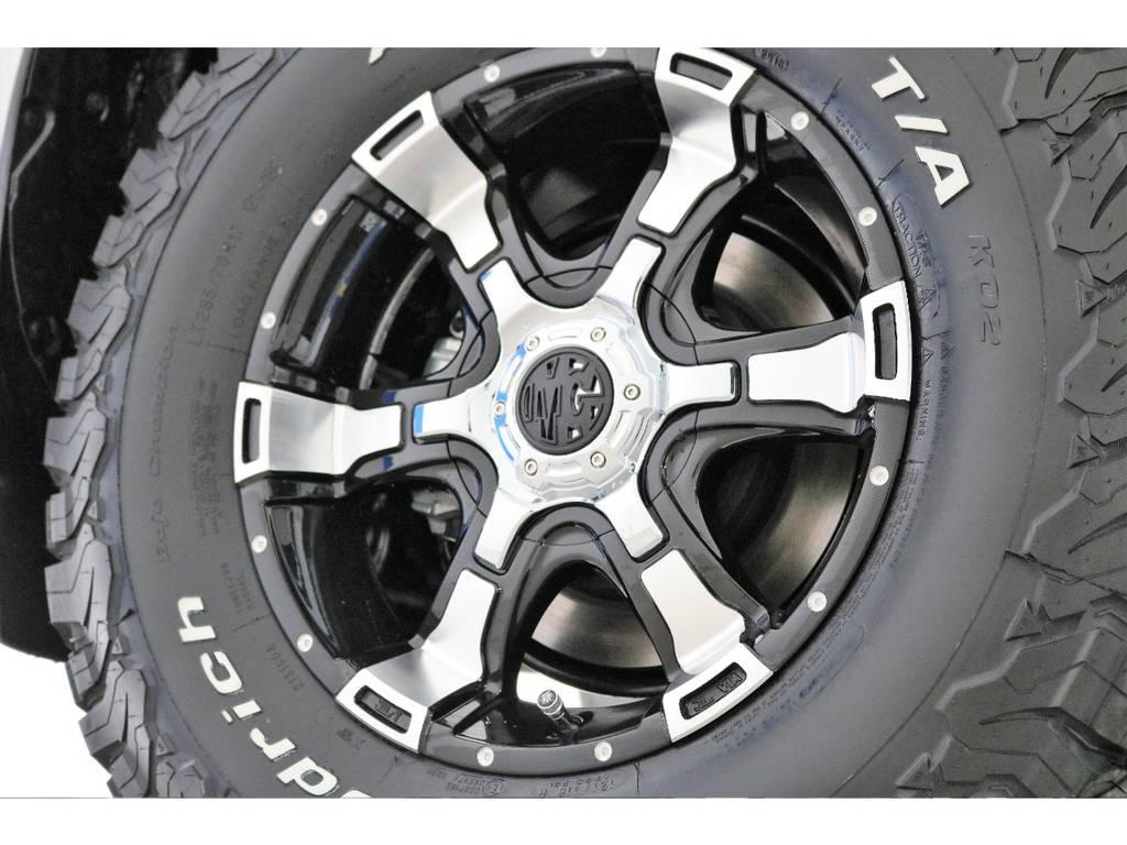 新品MGヴァンパイア17インチホイール&新品BFグッドリッチATタイヤを装着致しました! | トヨタ ランドクルーザープラド 2.8 TX Lパッケージ ディーゼルターボ 4WD 7人 新車未登録車 9インチUP