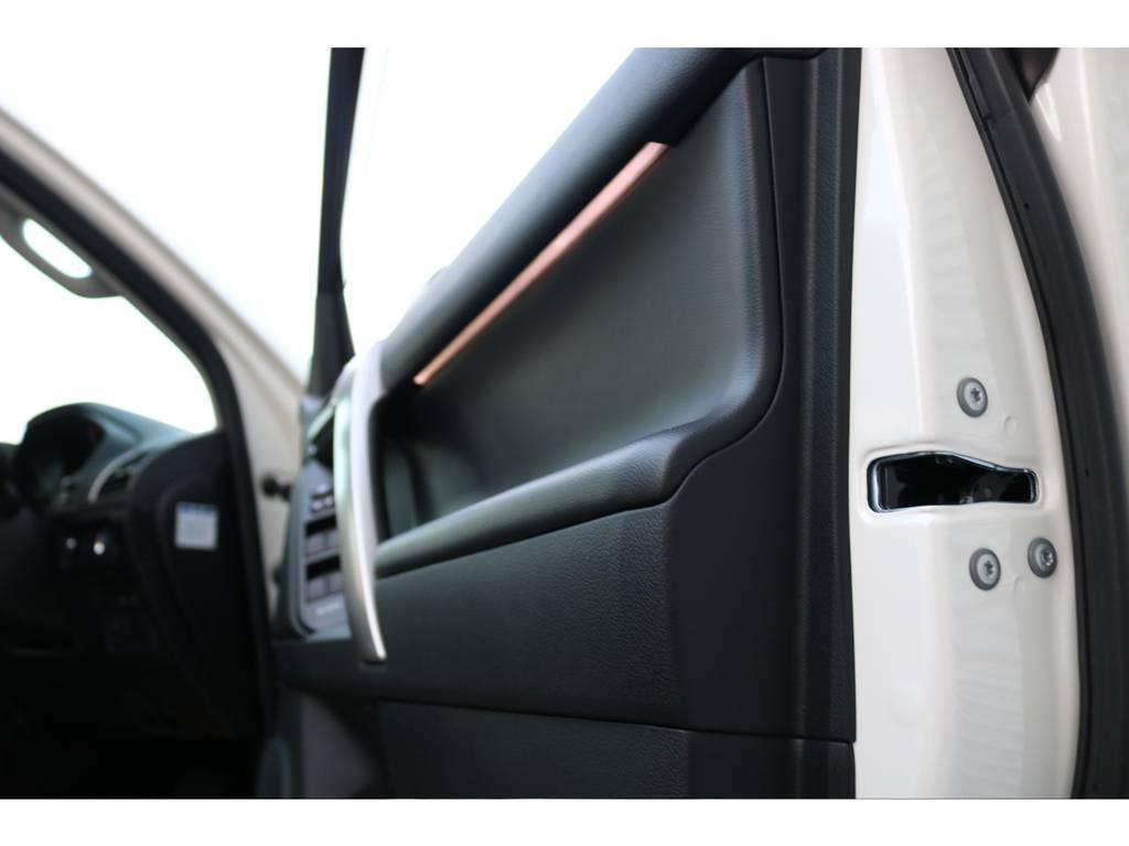 ドアイルミネーション付き! | トヨタ ランドクルーザープラド 2.8 TX Lパッケージ ディーゼルターボ 4WD 7人 新車未登録車 9インチUP